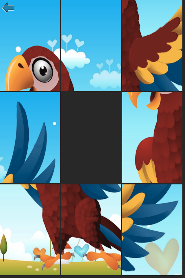Screenshot Parrot's Friends – puzzle slide